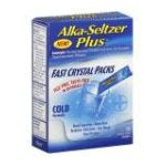 Alka-seltzer - Cold Formula, 10-4- packet 10 in each,1 count 0016500538547  / UPC 016500538547