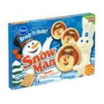 Pillsbury - Cookie Dough Sugar Snowman Shape 0018000880522  / UPC 018000880522