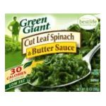 Green Giant - Cut Leaf Spinach & Butter Sauce 0020000000824  / UPC 020000000824
