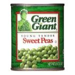 Green Giant - Young Tender Sweet Peas 0020000102580  / UPC 020000102580
