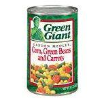 Green Giant - Garden Medley Corn Beans And Carrots 0020000104607  / UPC 020000104607