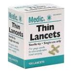 Winn-Dixie -  Thin Lancets Sterile Tip Single Use Only 100 lancets 0021140703989