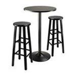 Winsomewood -  Obsidian 3 Piece Pub Table Set 0021713203311