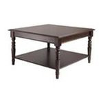 Winsomewood -  Winsome Wood Whitman Square Coffee Table - Square - 4 Legs - 30 x 30 x 18.1 - Wood - Cappuccino 0021713402318