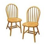 Winsomewood -  Set of 2 Solid Wood Windsor Dining Chairs 0021713899996