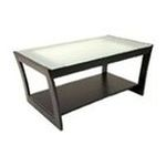 Winsomewood -  Winsome Radius Coffee Table with Frosted Glass and Curved Legs 0021713920423