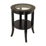 Winsomewood -  Contemporary Espresso Solid Wood Round End Table 0021713922182
