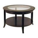 Winsomewood -  Winsome Wood Easton Coffee Table - Round - 4 Legs - 30 x 18.0 - Wood, Glass - Dark Espresso 0021713922199