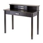Winsomewood -  Winsome Liso Writing Desk with Hutch - 5.9 Height - Wood - Espresso 0021713922731