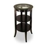 Winsomewood -  Contemporary Espresso Finish Round Occasional Side Table 0021713923189