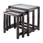 Winsomewood -  Winsome Copenhagen 3 Piece Nesting Table Set with Glass top 0021713923332