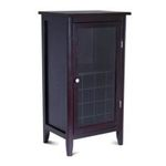 Winsomewood -  Winsome Wood Wine Cabinet with Glass Door, Espresso 0021713925220