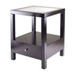 Winsomewood -  Winsome Copenhagen End Table with Glass Top 0021713926234