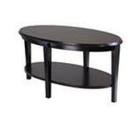 Winsomewood -  Oval Coffee Table with Lower Shelf in Dark Espresso | Nadia Coffee Table 0021713926388