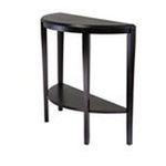 Winsomewood -  Winsome Wood Nadia Console Table - Half Oval - 39.30 x 15.70 x 33.7 - Wood - Dark Espresso 0021713926425