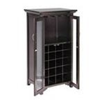 Winsomewood -  Mason Wine Cabinet Holds 20 Bottles, French Doors By Winsome Wood 0021713927224