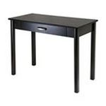 Winsomewood -  Winsome Wood Liso Computer Desk with Pull Out Key Board - 4 Legs - 1 Drawers - 42 x 21 x 31.0 - Wood, Stainless Steel - Dark Espresso 0021713927415