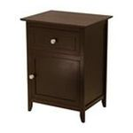 Winsomewood -  Winsome Wood Winsome Trading Espresso End Table with 1 Drawer and Cabinet - Rectangle - 25.0 Height - Wood 0021713928153