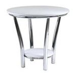 Winsomewood -  Maya Round End Table in White 0021713935199
