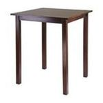 Winsomewood -  Solid Wood Square Bar Table Contemporary Style in Antique Walnut 0021713941343