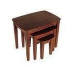 Winsomewood -  3PC Walnut Finish Occasional Accent Nesting Tables 0021713943279