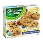 Cascadian Farm - Peanut Butter Chip Chewy Granola Bars 12 Boxes 6 1.2 0021908146317  / UPC 021908146317