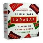 Lärabar - 12 Mini Bars Assorted Cherry Cashew Cookie & Apple Pie 0021908471389  / UPC 021908471389