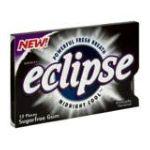 Wrigley -  Eclipse Midnight Cool Sugar Free Gum 12 piece 0022000001689