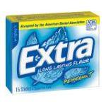 Wrigley -  Extra Sugar Free Chewing Gum Peppermint 15 Sticks Pack 1 pack,15 sticks 0022000008916