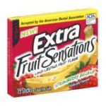 Wrigley -  Extra Strawberry Banana Sugarfree Gum Fruit Sensation 15 Stick Pack 15 sticks 0022000008978