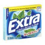 Wrigley -  Gum Sugarfree Supermint 15 sticks 0022000009005