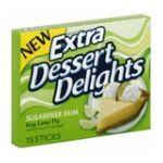 Wrigley -  Extra Dessert Delights Sugarfree Gum Key Lime Pie Flavored Gum 15 Stick Per Pack 15 sticks 0022000115621