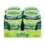 Wrigley -  Doublemint Sugarfree Natural And Artificial Flavor Chewing Gum Big-e-pak 4 Containers Of Gum In Each Total 240 piece 0022000117090