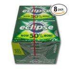 Wrigley -  Eclipse Sugar Free Gum Spearmint 144 piece total 0022000119650