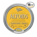 Wrigley -  Altoids Curiously Strong Sours Tangerine Fruit Candy 0022000159458
