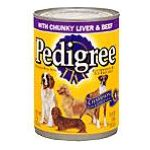 Pedigree - Food For Dogs With Chunky Liver & Beef 0023100010335  / UPC 023100010335
