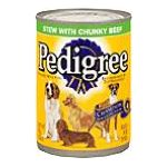 Pedigree - Food For Dogs Stew With Chunky Beef 0023100011011  / UPC 023100011011