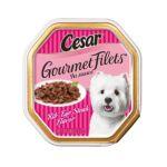 César - Canine Cuisine Gourmet Filets For Small Dogs Rib-eye Steak Cans 0023100293950  / UPC 023100293950