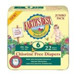 Earth's Best -  Tendercare Chlorine Diapers Size 3 16-28 Pounds 23 lb 0023923053403
