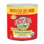 Earth's Best -  Organic Infant Formula With Iron Dha & Ara 20% Bonus Size Cans 0023923100466