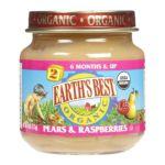 Earth's Best -  2nd Foods Pears & Raspberries 0023923200197