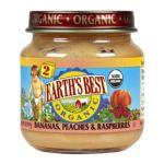 Earth's Best -  Bananas Peaches & Raspberries Baby Food 0023923200227