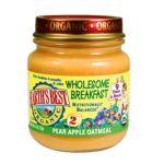 Earth's Best -  Wholesome Breakfast Pear Apple Oatmeal 0023923202276