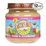 Earth's Best -  Earth's Best Organic 2nd Pears & Raspberries Jars 0023923212190