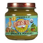 Earth's Best -  Baby Foods Spinach & Potatoes 0023923300378
