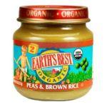 Earth's Best -  Organic 2nd Peas & Brown Rice Jars 0023923312326