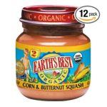 Earth's Best -  Organic 2nd Corn & Butternut Squash Jars 0023923312357
