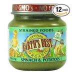 Earth's Best -  Earth's Best Organic Strained Jars Spinach And Potatoes 0023923312371