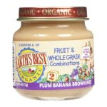 Earth's Best -  2nd Foods Plum Banana Brown Rice 0023923400504