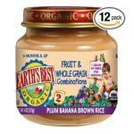 Earth's Best -  Earth's Best Organic 2nd Fruit & Whole Grain Combo Jars Plum Banana Brown Rice 0023923412507